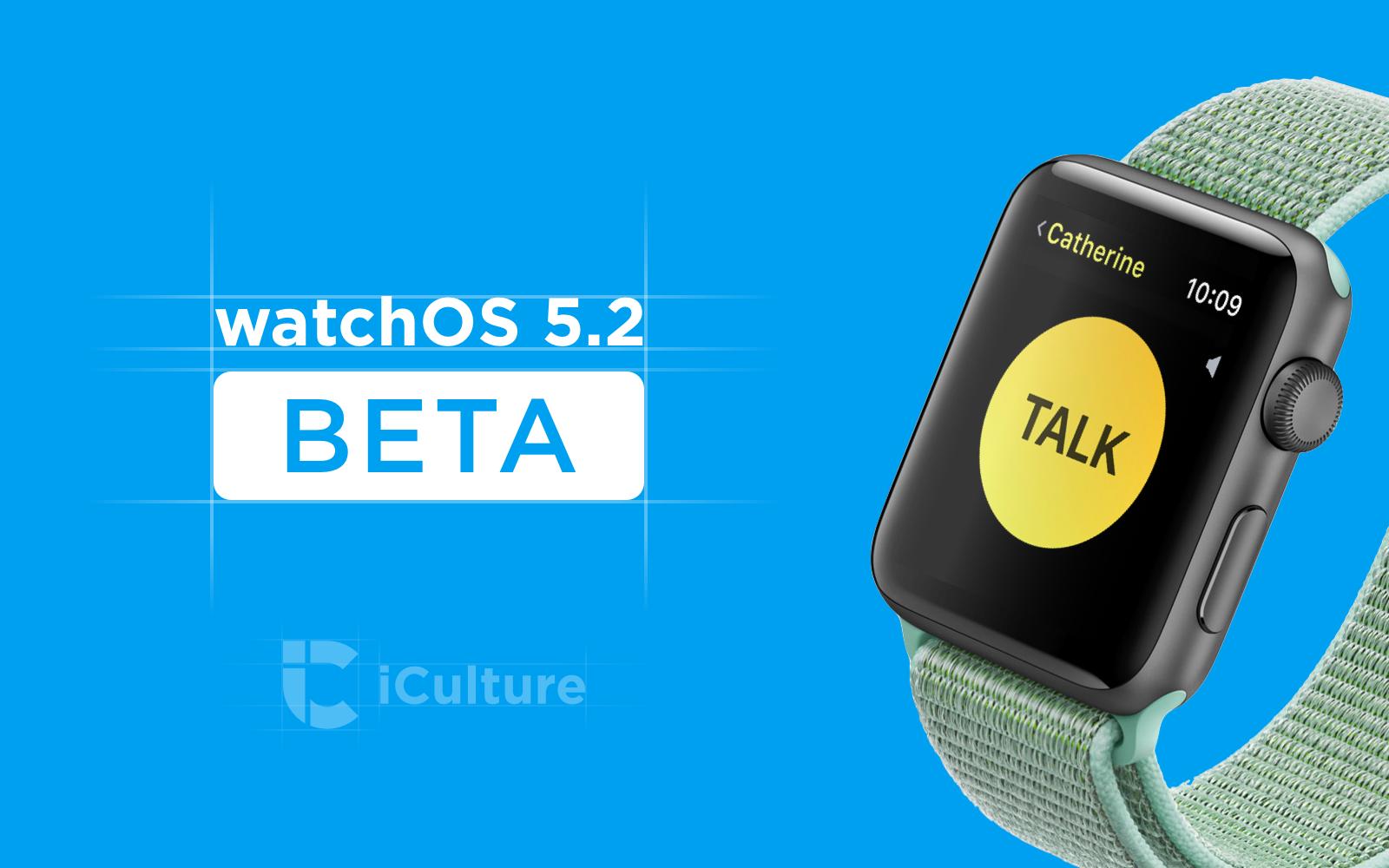 watchOS 5.2 beta.