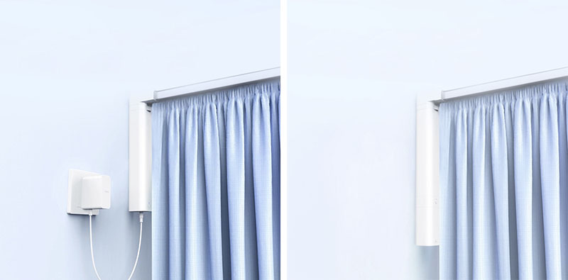 Aqara Curtain Controller met stekker en batterij