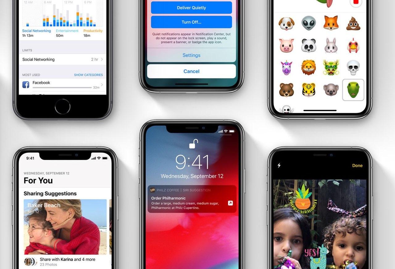iOS 12 updates