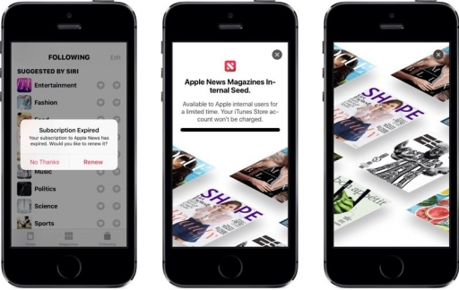 Apple News Magazines gelekt