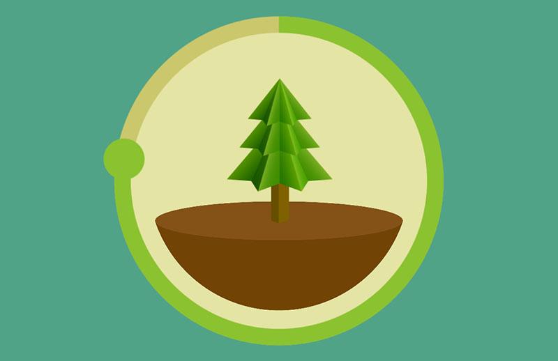 Forest-app op de iPhone
