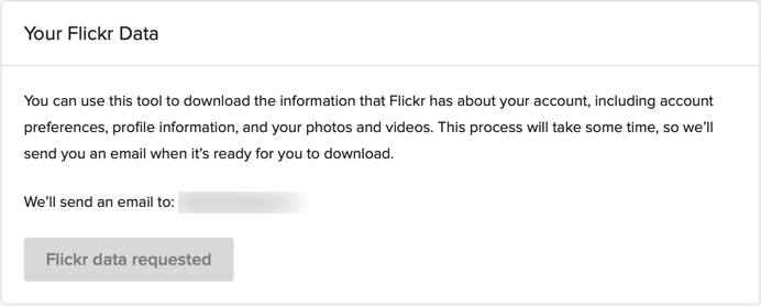 Flickr data downloaden