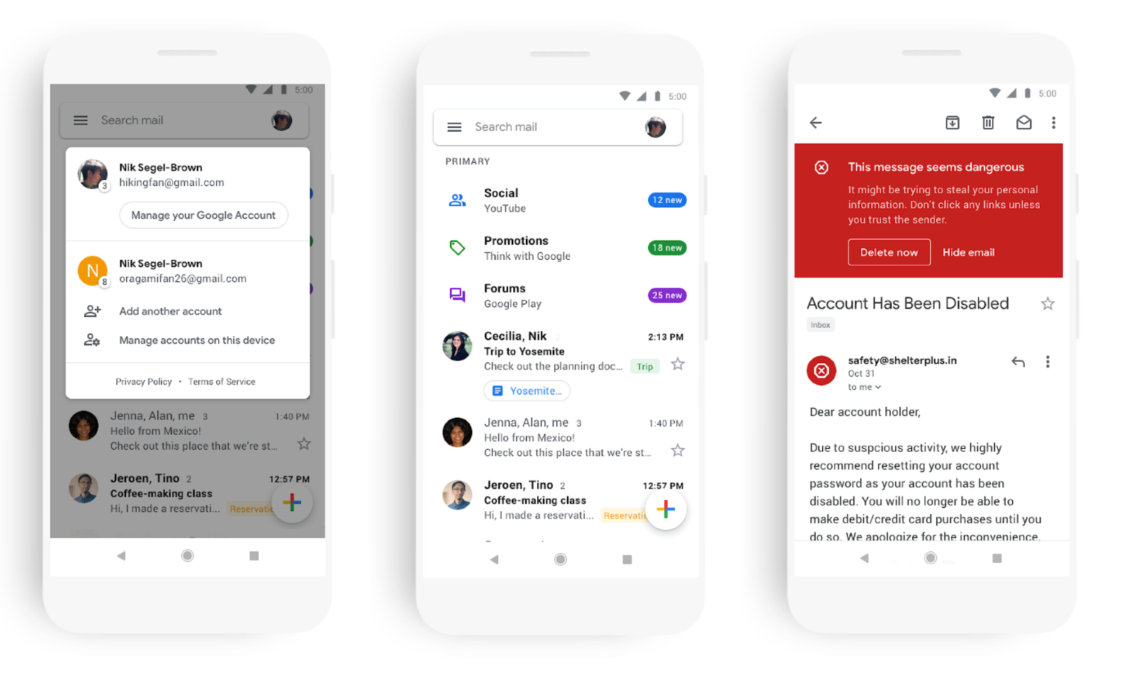 Gmail vernieuwd Material-design.
