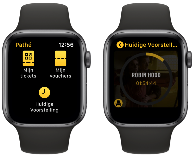 Pathé op Apple Watch.