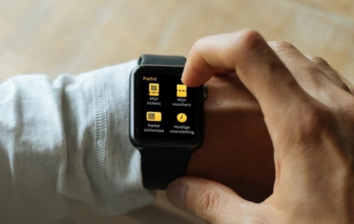 Pathé Apple Watch hoofdmenu.