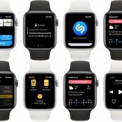 Screenshots van Apple Watch-apps.