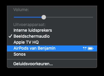 AirPods Mac verbinden via audio.