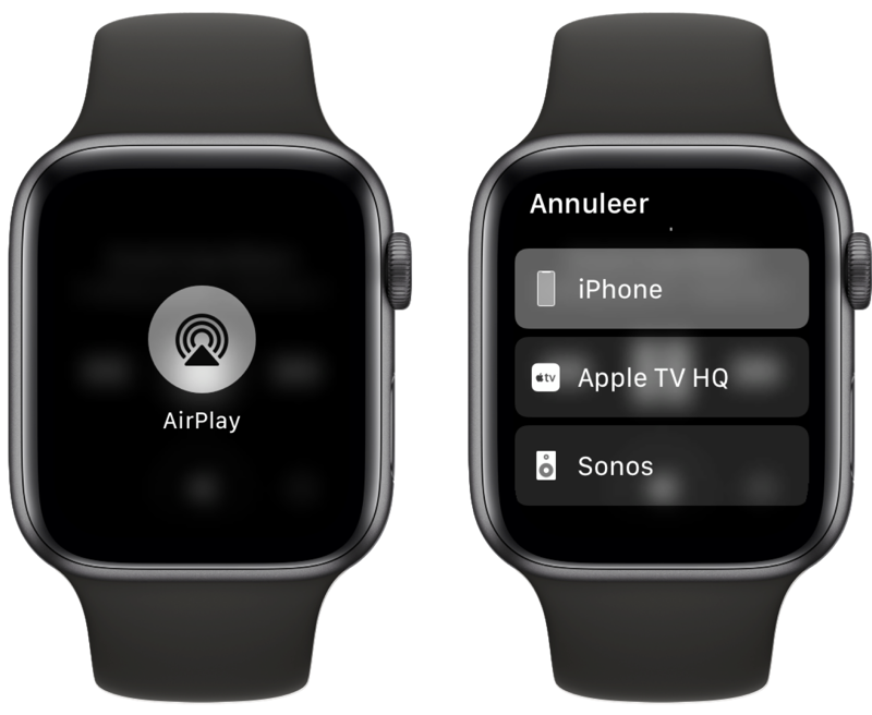AirPlay op Apple Watch gebruiken.