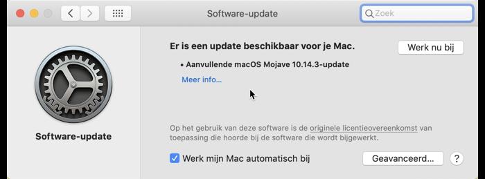 macOS Mojave 10.14-3 opnieuw uitgebracht
