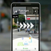 Google test navigatie met augmented reality in Google Maps