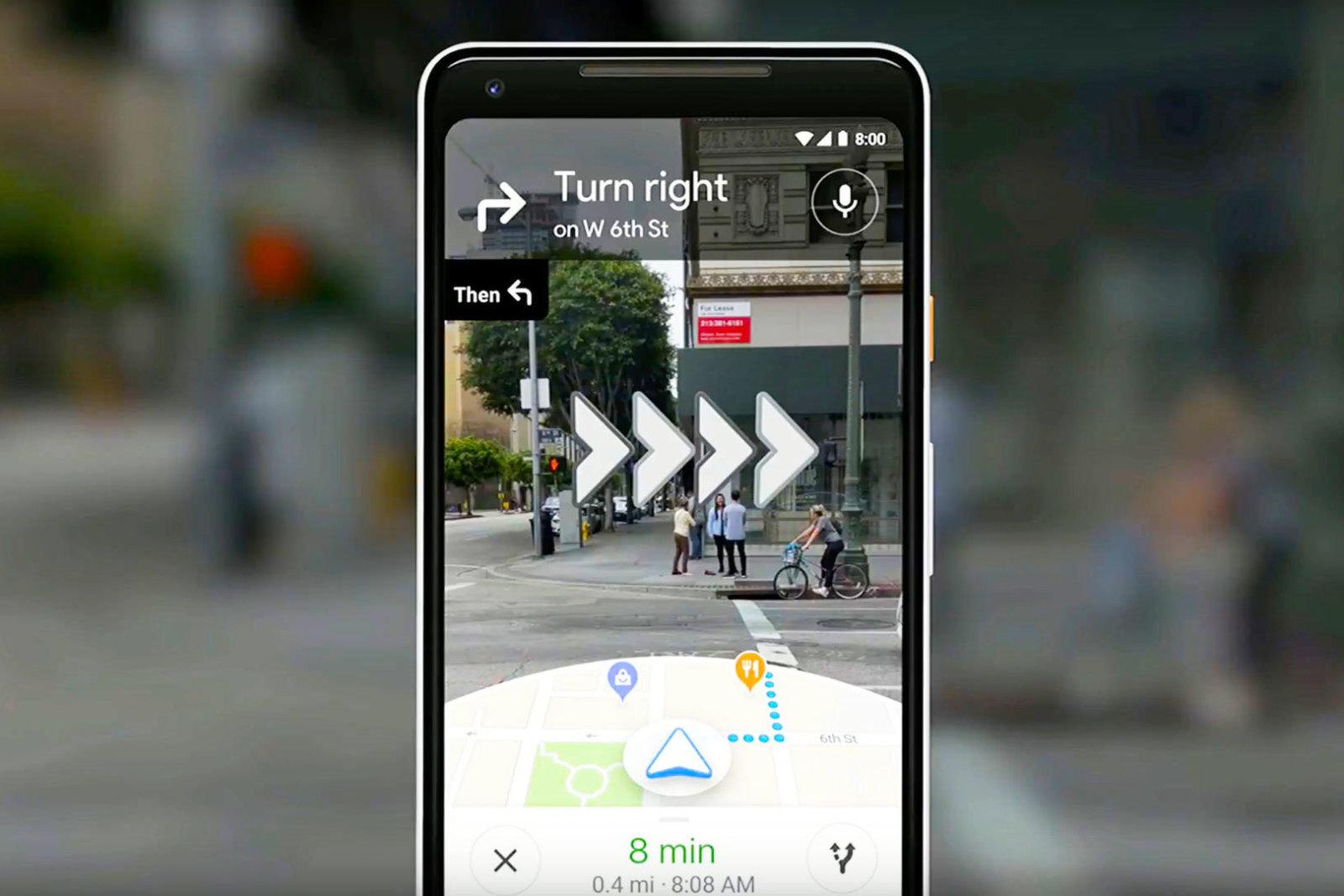 Google Maps AR navigatie