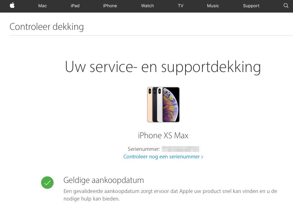 iPhone serienummer opzoeken