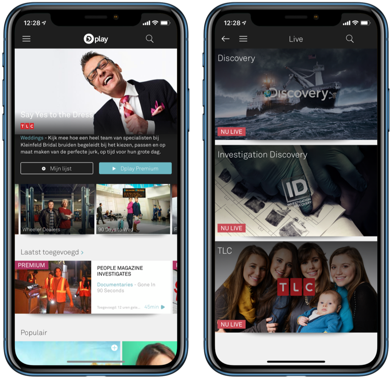Discovery Dplay-app.