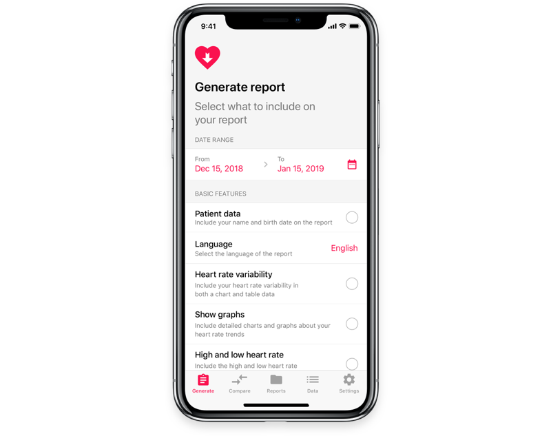 Heart Reports voor iPhone
