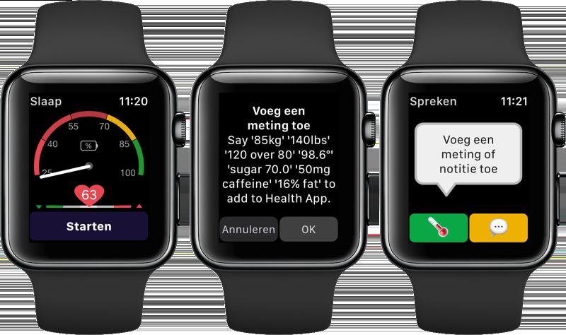 HeartWatch-app metingen en notitie