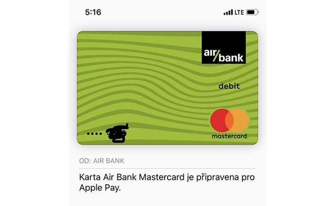 Apple Pay in Tsjechië