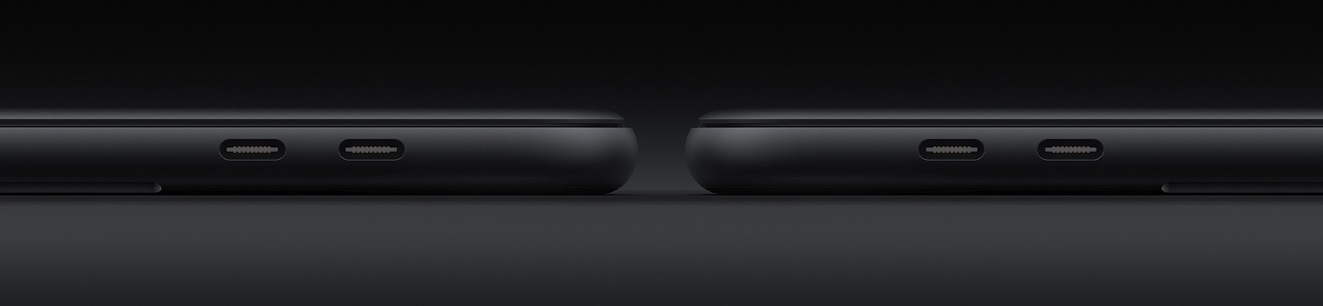 Concept van MacBook Pro vanaf de zijkant.