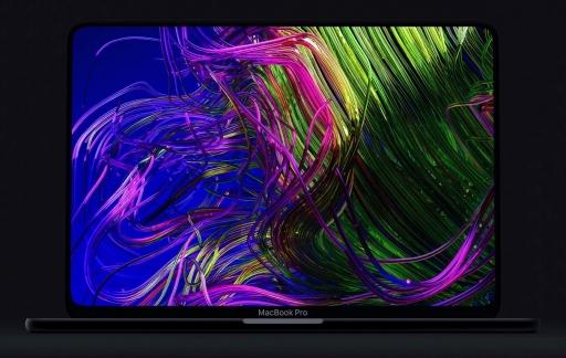 Concept van MacBook Pro met scherm tot de rand.
