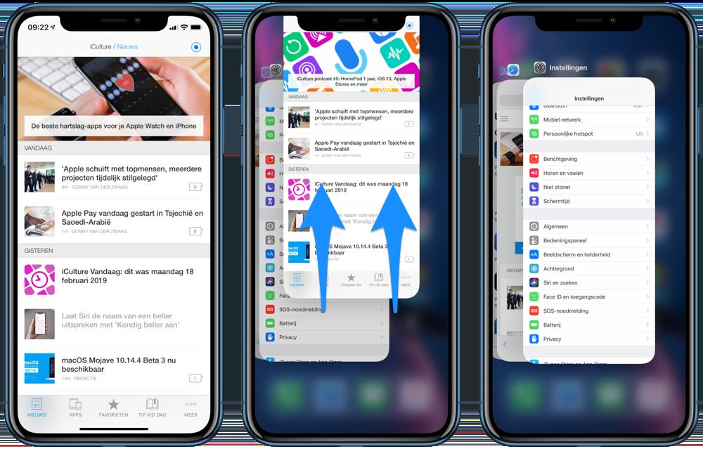 App geforceerd afsluiten op iPhone XR.