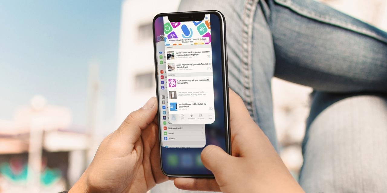 App geforceerd afsluiten op iPhone.