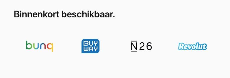 Uitbreiding van banken voor Apple Pay in België.