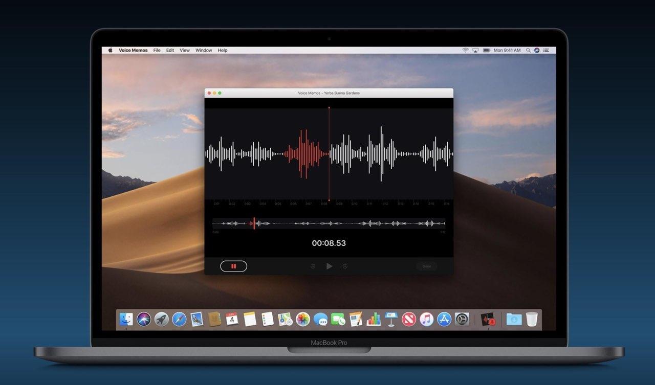 Dictafoon-app op de Mac