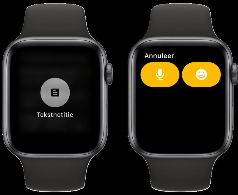 Google Keep op Apple Watch notitie maken.