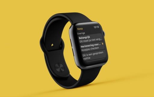 Google Keep op de Apple Watch.