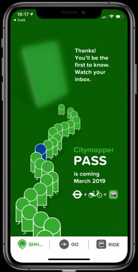 Citymapper Pass uitnodiging