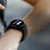 Samsung Galaxy Watch Active met berichtje.
