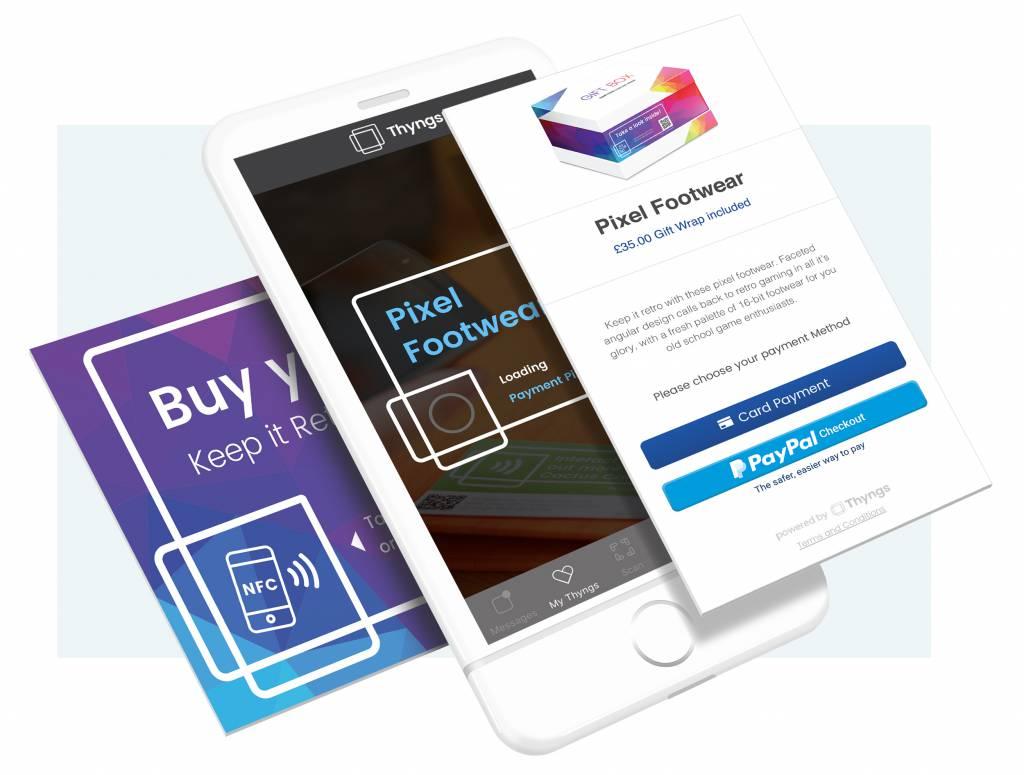 NFC-toepassing van Thyngs
