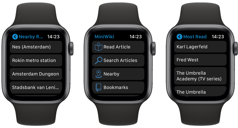 MiniWiki op Apple Watch
