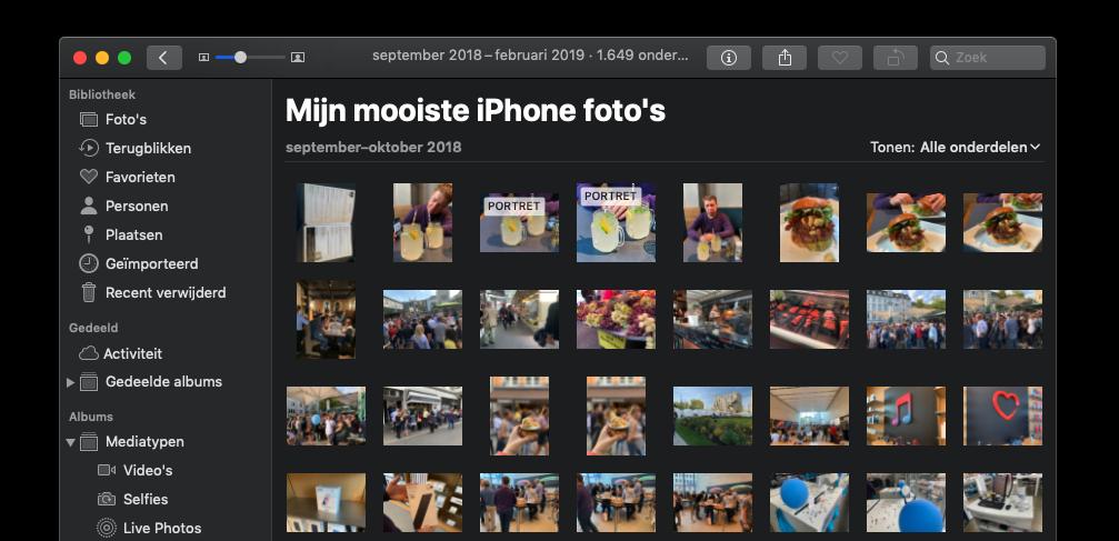 Slimme fotoalbums op de Mac