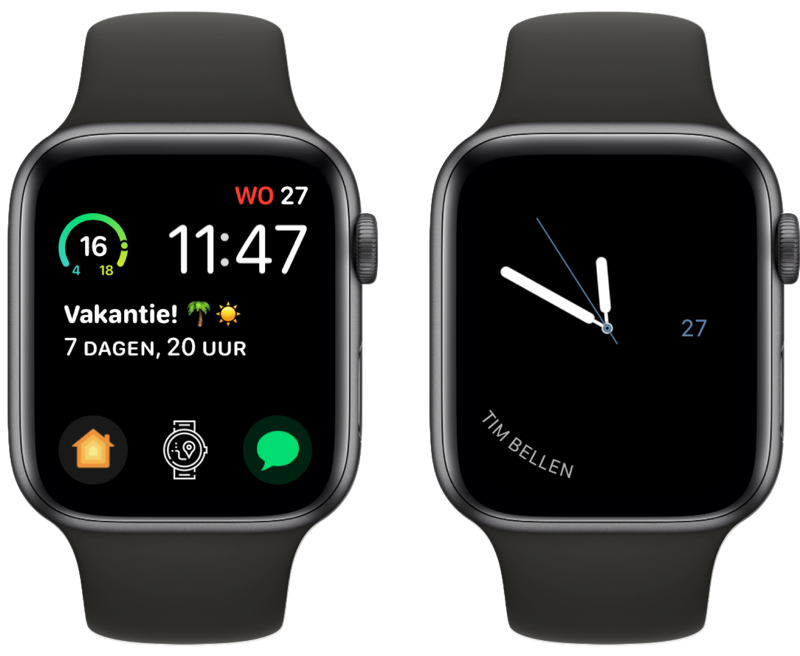 Complicate It op de Apple Watch.