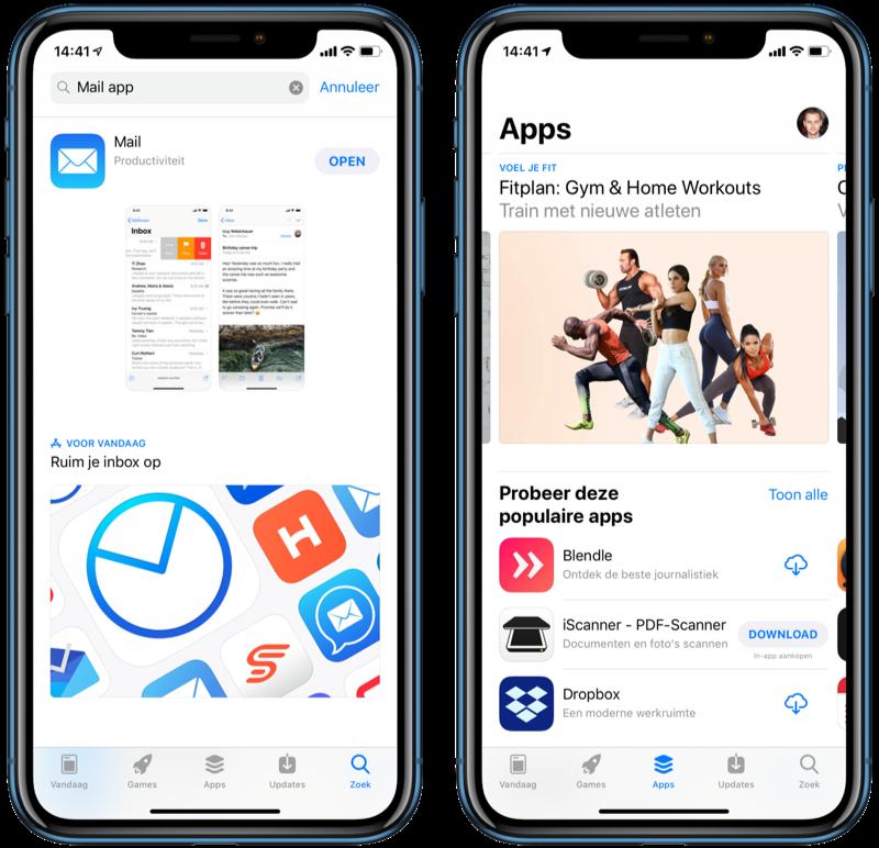 App Store zoeken naar apps.