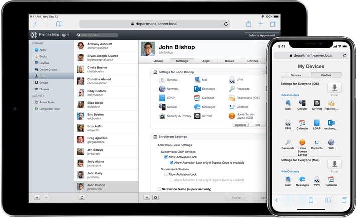 macOS Server met iOS
