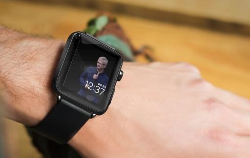 Tim Cook op Apple Watch-wijzerplaat.