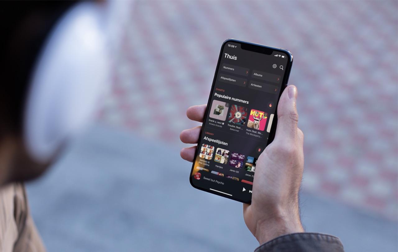 Soor met Apple Music voor de iPhone.