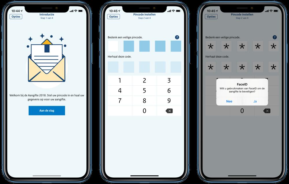 Aangifte 2018-app inkomstenbelasting van de Belastingdienst.