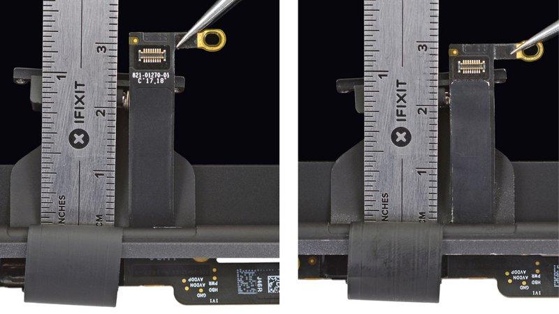 Flexgate nieuwe kabel in MacBook Pro.