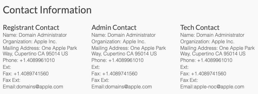 Apple registratie PrivacyIsImportant.com.