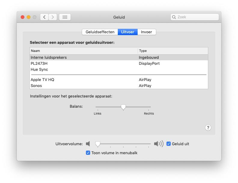 Audiobalans Mac