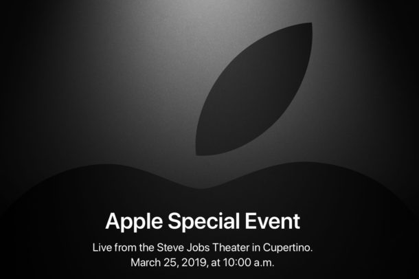 Apple Event 25 maart livestream
