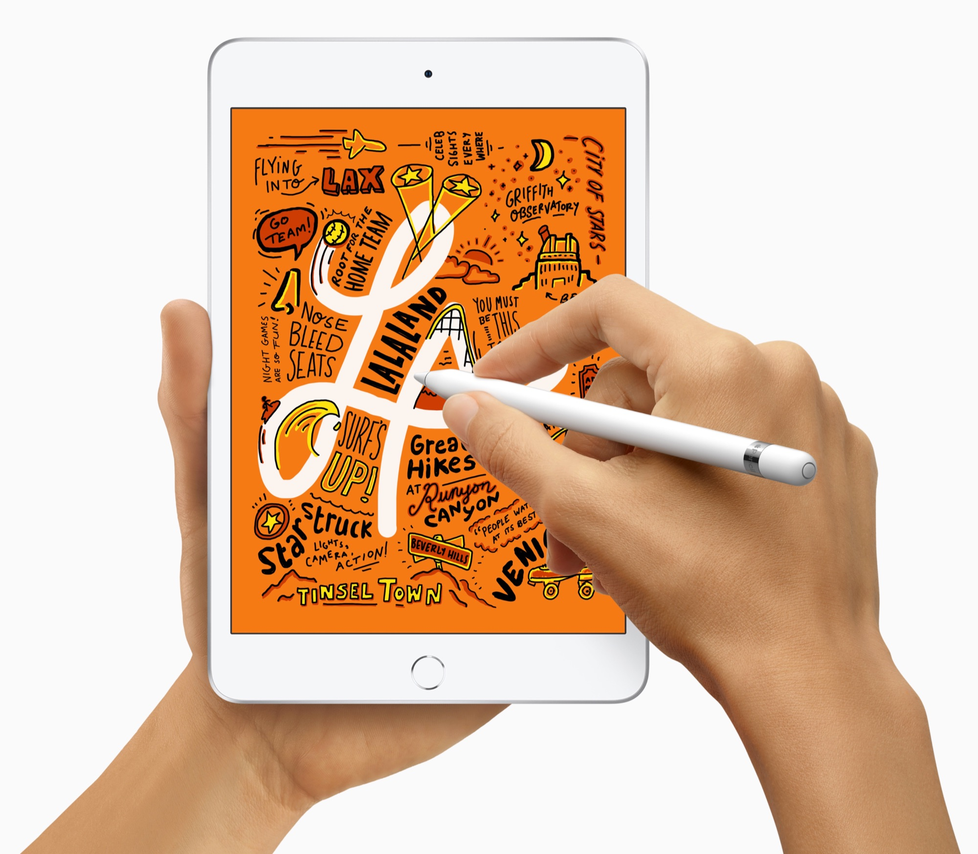 iPad mini 2019 met Apple Pencil.