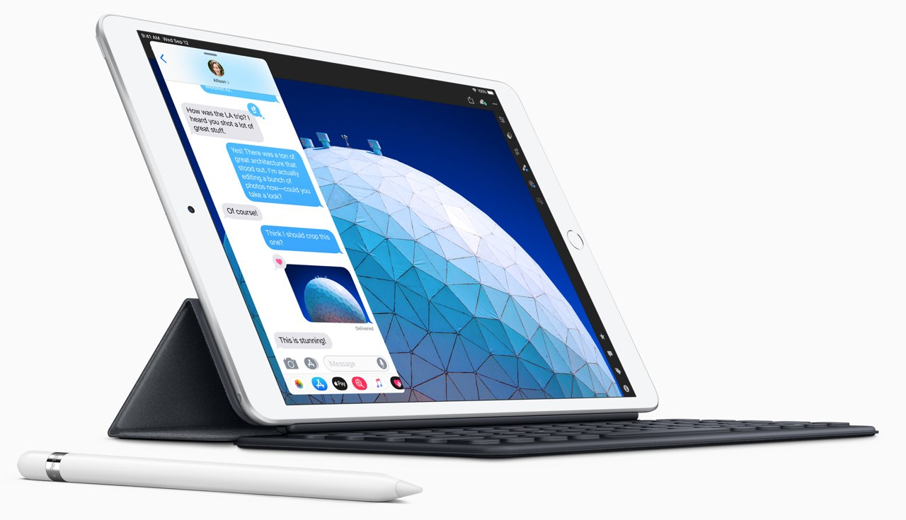 iPad Air smart keyboard en apple pencil