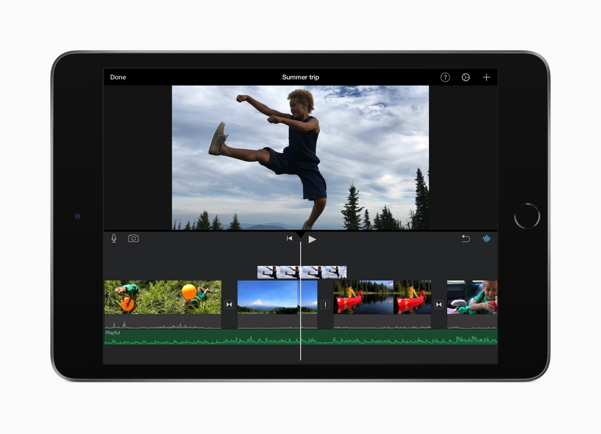 iPad mini 2019 met iMovie.