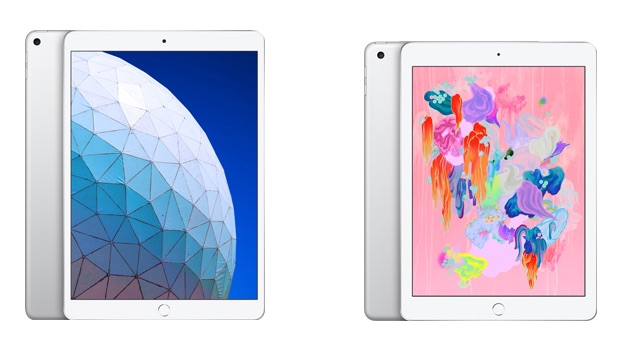 iPad Air 2019 vs iPad 2018.