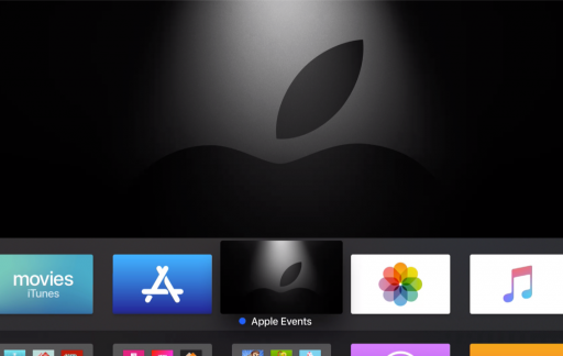Apple Events-app op Apple TV voor maart 2019.