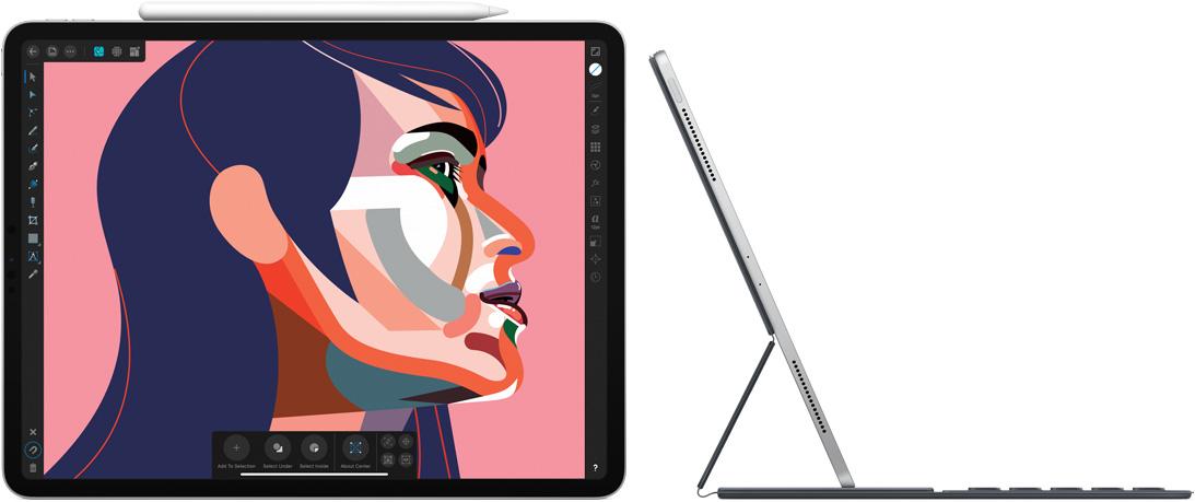 iPad Pro grafisch en met toetsenbord