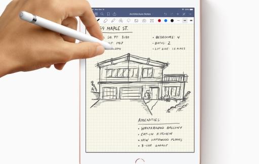 Schrijven met Pencil op de iPad mini 2019.